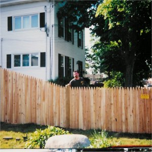 Plastival 8' x 3' White Stockade Picket Vinyl Fence Panel